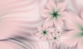 Fractal image of color flower. Fractal flower, digital artwork for creative graphic design. Template for inserting text Royalty Free Stock Images