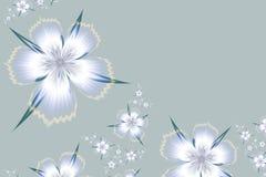 Fractal image of color flower. Light fractal flower, digital artwork for creative graphic design. Template for insert text Stock Photo