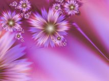 Fantasy floral image, backgroung for inserting text. Beautiful flower in pink color. Fractal image, digital artwork for creative graphic design, template for Royalty Free Stock Photography