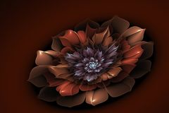 Fractal image with flowers. Stock Photos