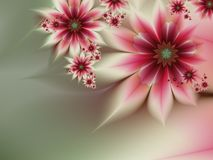 Fractal image with flowers. For your text. Grafic design for business cards. Fractal image_ template for inserting text Royalty Free Stock Images