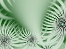Fractal image with flowers. For your text. Green color. Stock Photos