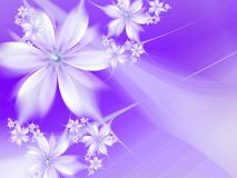 Fractal image with flowers. For your text. Purple color. vector illustration
