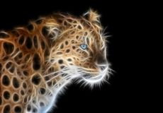 Free Fractal Image Of A Wild Leopard With Blue Eyes Stock Images - 139563114