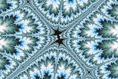 Abstract fractal image pick star in teal color royalty free illustration