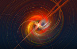 Fractal image: Rotating the fiery Sphere. Stock Image