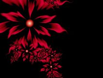 Free Fractal Image With Flowers. For Your Text. Red Color. Royalty Free Stock Image - 109286536