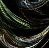 Fractal iterativo originado en ordenador artificial abstracto de la llama Fotografía de archivo