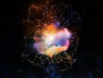 Fractal Jellyfish tło Obrazy Royalty Free