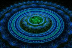 Fractal julian concentric circles wave royalty free stock images