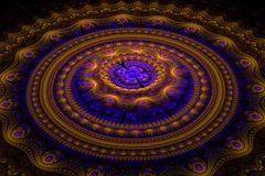 Fractal julian concentric circles wave stock photography