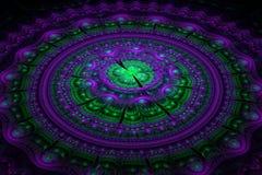 Fractal julian concentrische cirkelsgolf Royalty-vrije Stock Fotografie