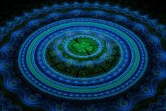 Fractal julian concentrische cirkelsgolf Royalty-vrije Stock Afbeeldingen