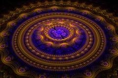 Fractal julian concentrische cirkelsgolf Stock Fotografie
