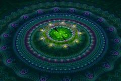 Fractal julian concentrische cirkelsgolf Royalty-vrije Stock Foto
