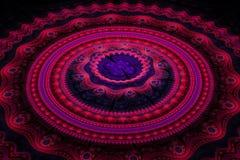 Fractal julian concentrische cirkelsgolf Stock Foto