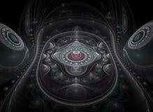 Fractal juliano grande ótico 01 da arte 3D Fotografia de Stock