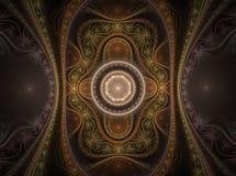 Fractal juliano magnífico 06 del arte óptico stock de ilustración