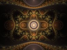 Fractal juliano magnífico 16 del arte óptico ilustración del vector