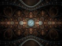Fractal juliano magnífico 17 del arte óptico stock de ilustración