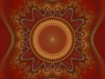 Fractal juliano magnífico 28 del arte óptico ilustración del vector