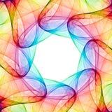 Fractal kaleidoscope. Colorful 3D rendered kaleidoscope pattern (abstract design royalty free illustration