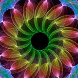 Fractal kaleidoscope Royalty Free Stock Photo