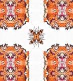 Fractal Kaleidoscope Peachy Royalty Free Stock Photos