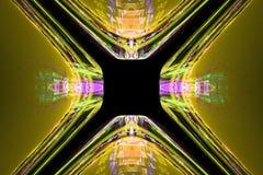 Fractal kan de wiskundige algoritme geproduceerde illustratie van het kunstbeeld de melkwegheelal van de heelal 3D digitaal kunst Stock Foto