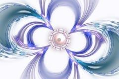 Fractal kan de wiskundige algoritme geproduceerde illustratie van het kunstbeeld de melkwegheelal van de heelal 3D digitaal kunst Royalty-vrije Stock Fotografie