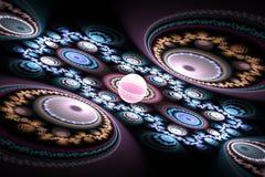 Fractal kan de wiskundige algoritme geproduceerde illustratie van het kunstbeeld de melkwegheelal van de heelal 3D digitaal kunst Royalty-vrije Stock Afbeeldingen