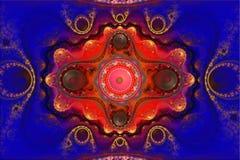 Fractal kan de wiskundige algoritme geproduceerde illustratie van het kunstbeeld de melkwegheelal van de heelal 3D digitaal kunst Stock Afbeeldingen