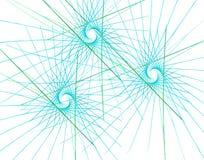 Fractal kleurrijke driehoeken en stralen Stock Foto