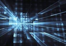 Fractal kunst - computerbeeld, technologische achtergrond Stock Foto