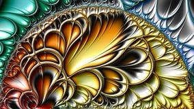 Fractal kunstwerken royalty-vrije illustratie