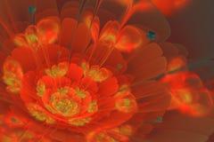 Fractal kwiat z sercami, okrąża i zamazuje Fotografia Royalty Free