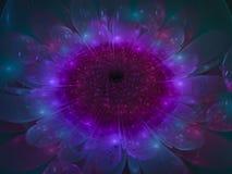 fractal kwiatu abstrakcjonistycznego pięknego ciemnego tapetowego okwitnięcia unikalny dynamiczny Zdjęcia Stock