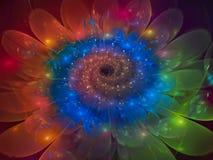 fractal kwiatu abstrakcjonistycznego pięknego okwitnięcia unikalny dynamiczny Zdjęcie Stock