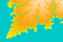 Fractal Leaf. A digitally generated colorful fractal background based on the mandelbrot set that resembles a leaf Royalty Free Stock Photos