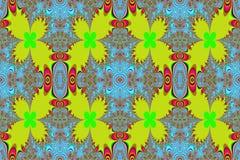 Fractal leaves. Varicoloured fractal pattern.Abstract symmetric background.Raster illustration Stock Image