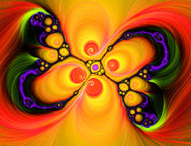 Fractal light show. A psychadelic burst of fractal lights Stock Images