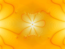 Fractal lights. Abstract strange picture - lights and curved lines on yellow background Stock Image