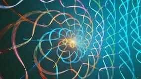 Fractal lijnachtergrond met abstracte vormen Hoog gedetailleerde lijn stock footage