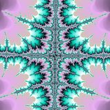 Fractal, lilas, ultravioleta e verde afiados Imagem de Stock