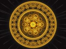 Fractal mandala - abstract digitaal geproduceerd beeld royalty-vrije illustratie