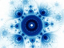 Fractal mandala - abstract esoterisch digitaal geproduceerd beeld royalty-vrije stock foto's