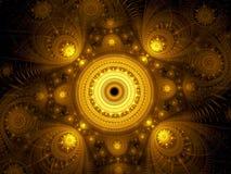 Fractal mandala - abstrakcjonistyczny ezoteryk cyfrowo wytwarzał wizerunek zdjęcie stock