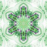 Fractal mandala with star. Seamless pattern, digital artwork for creative graphic design Royalty Free Stock Photos