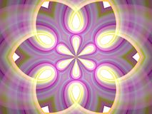Fractal meditation kaleidoscope Royalty Free Stock Images
