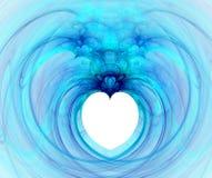 Fractal met hart Stock Foto's